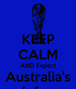 Poster: KEEP CALM AND Expect Australia's defeat
