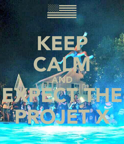 Poster: KEEP CALM AND EXPECT THE PROJET X