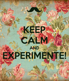 Poster: KEEP CALM AND EXPERIMENTE!