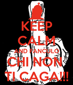 Poster: KEEP CALM AND FANCULO CHI NON  TI CAGA!!!