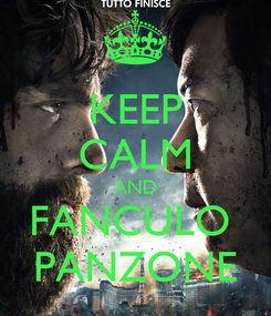 Poster: KEEP CALM AND FANCULO  PANZONE
