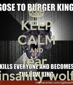 Poster: KEEP CALM AND fear  insanity wolf