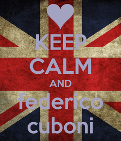 Poster: KEEP CALM AND federico cuboni