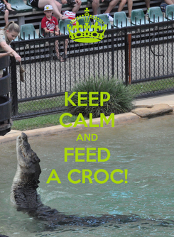 Poster: KEEP CALM AND FEED A CROC!