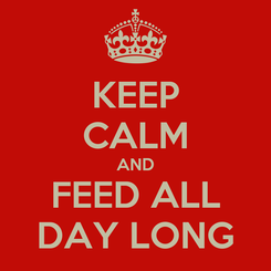 Poster: KEEP CALM AND FEED ALL DAY LONG
