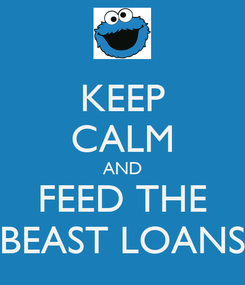 Poster: KEEP CALM AND FEED THE BEAST LOANS