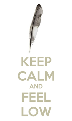 Poster: KEEP CALM AND FEEL LOW