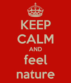Poster: KEEP CALM AND feel nature