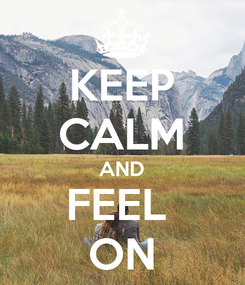 Poster: KEEP CALM AND FEEL  ON