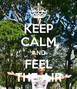 Poster: KEEP CALM AND FEEL THE AIR