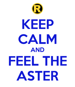 Poster: KEEP CALM AND FEEL THE ASTER