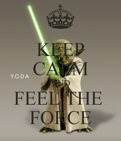 Poster: KEEP CALM AND FEEL THE  FORCE