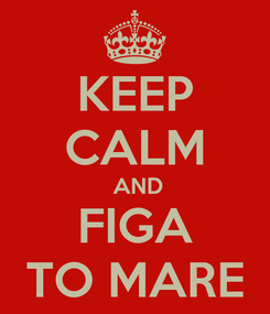Poster: KEEP CALM  AND FIGA TO MARE