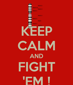 Poster: KEEP CALM AND FIGHT 'EM !