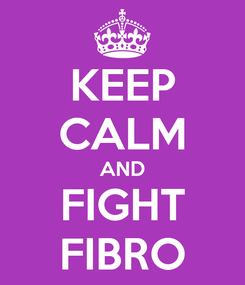 Poster: KEEP CALM AND  FIGHT  FIBRO