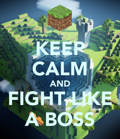 Poster: KEEP CALM AND FIGHT LIKE A BOSS