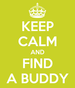 Poster: KEEP CALM AND FIND A BUDDY
