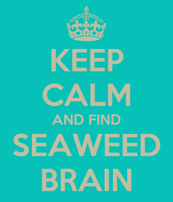 Poster: KEEP CALM AND FIND SEAWEED BRAIN