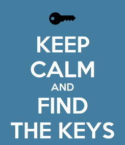 Poster: KEEP CALM AND FIND THE KEYS