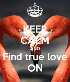 Poster: KEEP CALM AND Find true love ON