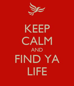 Poster: KEEP CALM AND FIND YA LIFE