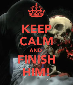 Poster: KEEP CALM AND  FINISH HIM!