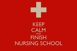Poster: KEEP CALM AND FINISH NURSING SCHOOL