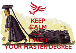 Poster: KEEP CALM AND FINISH YOUR MASTER DEGREE
