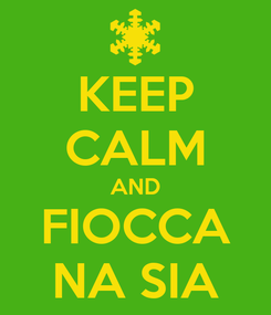 Poster: KEEP CALM AND FIOCCA NA SIA