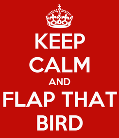 Poster: KEEP CALM AND FLAP THAT BIRD
