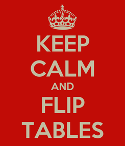 Poster: KEEP CALM AND FLIP TABLES