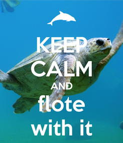 Poster: KEEP CALM AND flote with it