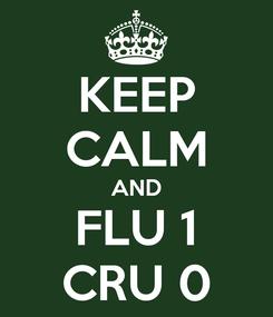 Poster: KEEP CALM AND FLU 1 CRU 0