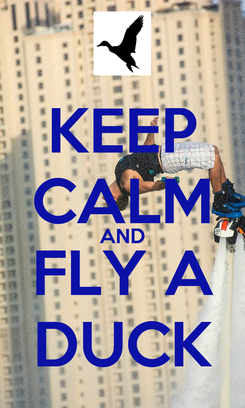 Poster: KEEP CALM AND FLY A DUCK