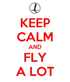 Poster: KEEP CALM AND FLY A LOT