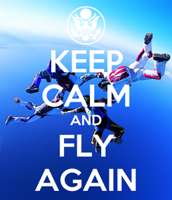 Poster: KEEP CALM AND FLY AGAIN