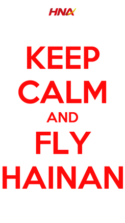 Poster: KEEP CALM AND FLY HAINAN