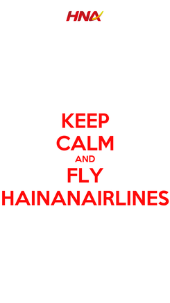 Poster: KEEP CALM AND FLY HAINANAIRLINES