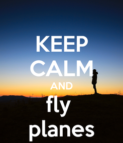 Poster: KEEP CALM AND fly  planes