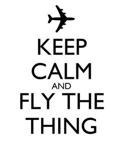 Poster: KEEP CALM AND FLY THE THING