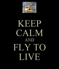 Poster: KEEP CALM AND FLY TO LIVE