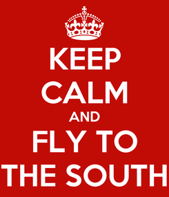 Poster: KEEP CALM AND FLY TO THE SOUTH