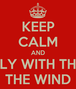 Poster: KEEP CALM AND FLY WITH THE THE WIND