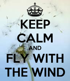 Poster: KEEP CALM AND FLY WITH THE WIND