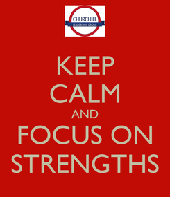 Poster: KEEP CALM AND FOCUS ON STRENGTHS
