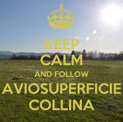 Poster: KEEP CALM AND FOLLOW AVIOSUPERFICIE COLLINA