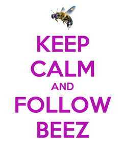 Poster: KEEP CALM AND FOLLOW BEEZ