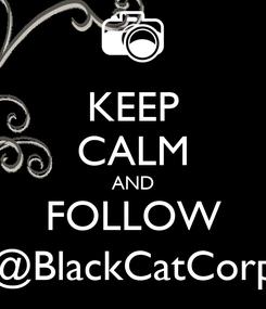 Poster: KEEP CALM AND FOLLOW @BlackCatCorp