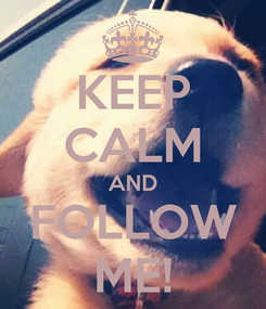 Poster: KEEP CALM AND FOLLOW ME!