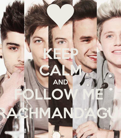 Poster: KEEP CALM AND FOLLOW ME  @RACHMANDAGUSTI